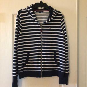 Tommy Hilfiger striped zip up hoodie